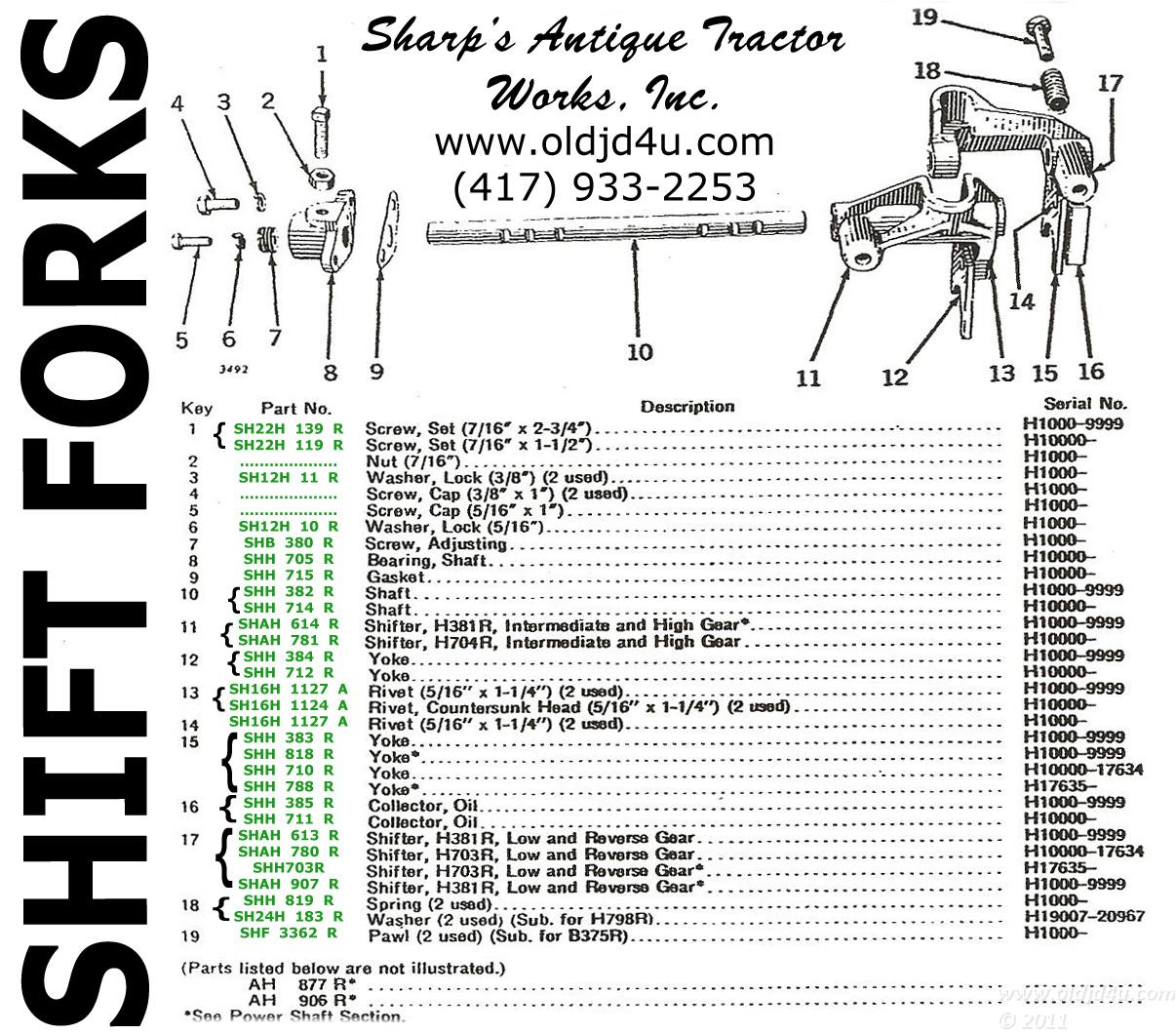 John Deere 2 Cyl Tractor Oldjdforyou Parts H. John Deere H Parts Catalog Shift Forks. John Deere. John Deere B Transmission Shifter Diagram At Scoala.co